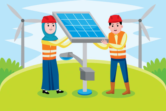 Solar Engineer Profession Graphic Illustrations By medzcreative