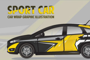 Sport Car - Car Decal Graphic Graphic Illustrations By Gumacreative