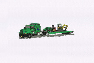 Transporting Truck Transportation Embroidery Design By DigitEMB