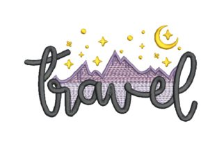 Travel - Mountain and Sky Travel & Season Embroidery Design By carasembor