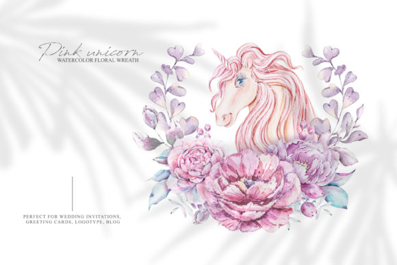 Print on Demand: Watercolor Cute Unicorn Clipart. Png Graphic Illustrations By Tiana Geo