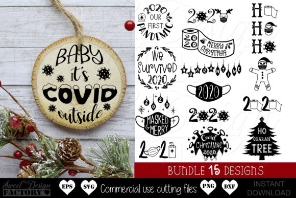 Print on Demand: Covid Christmas Graphic Crafts By SweetDesignFactory