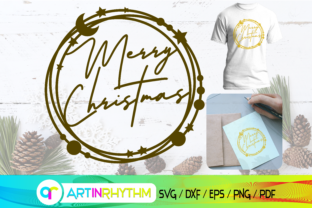 Merry Christmas Svg, Greeting Card Print Graphic Crafts By artinrhythm