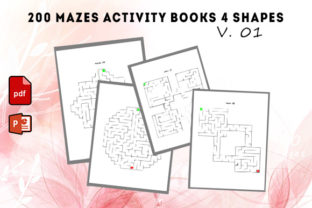 200 Mazes Activity Books 4 Shapes #1 Graphic KDP Interiors By KDP Successor