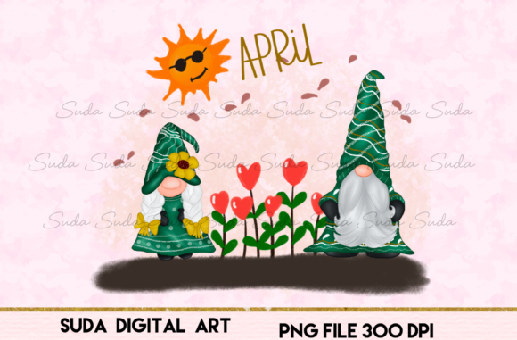 Print on Demand: April Calendar Design Sublimation Graphic Illustrations By Suda Digital Art