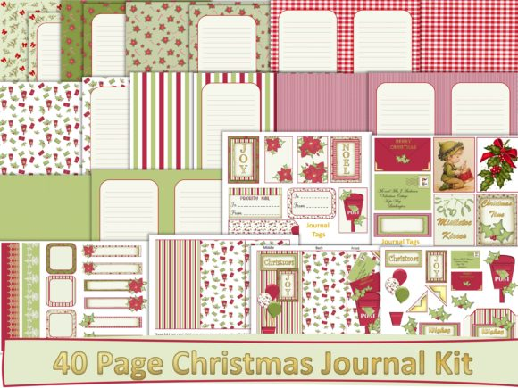 Print on Demand: Christmas Backgrounds and Ephemera Graphic Backgrounds By The Paper Princess