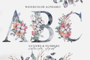 Print on Demand: Christmas Watercolor Alphabet Clipart Graphic Illustrations By Tiana Geo