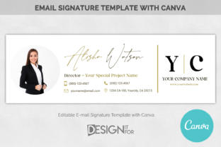 Print on Demand: Email Signature Template Logo - Realtor Graphic Email Templates By DesignItfor