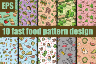 Print on Demand: Fast Food Seamless Pattern Design New Graphic Patterns By ahmaddesign99