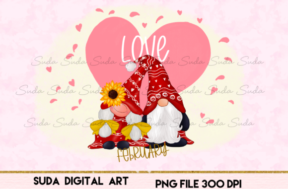 Print on Demand: February Calendar Design Sublimation Graphic Illustrations By Suda Digital Art