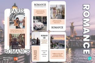 Instagram Story Template - ROMANCE Graphic Graphic Templates By 57creative