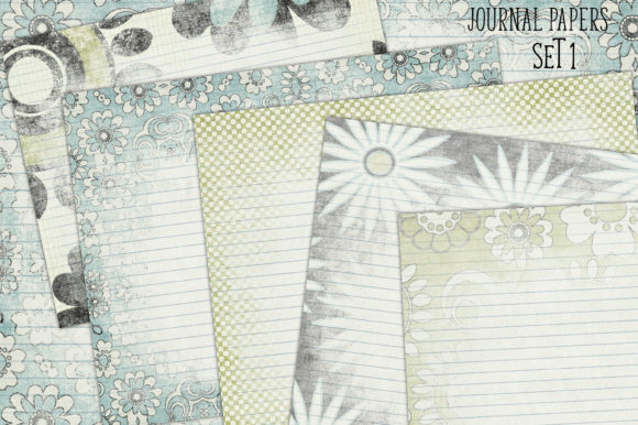 Print on Demand: Journaling Papers Set 1 Graphic Backgrounds By LilBitDistressed
