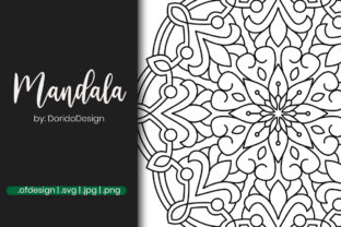 Print on Demand: Mandala Graphic Design for Coloring Graphic Coloring Pages & Books Adults By doridodesign