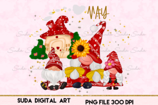 Print on Demand: May Calendar Design Sublimation Graphic Illustrations By Suda Digital Art