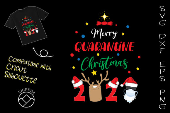 Print on Demand: Merry Quarantine Christmas 2020 COVID Graphic Crafts By Chippoa