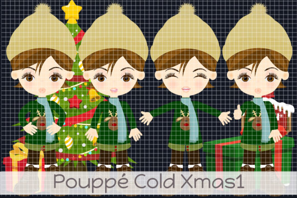 Pouppé Cold Xmas 1 Graphic Illustrations By Dolls To Go