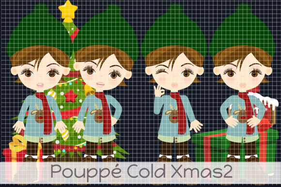 Pouppé Cold Xmas 2 Graphic Illustrations By Dolls To Go