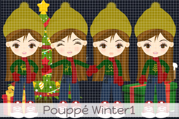 Pouppé Winter 1 Graphic Illustrations By Dolls To Go