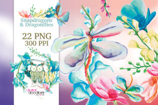 Print on Demand: Snapdragons & Dragonflies Graphic Illustrations By Digital Doodlers