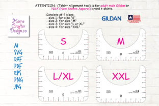 Print on Demand: T-Shirt Alignment Tool - 4 Size Variation Graphic Crafts By Home Crafter Design.co 3