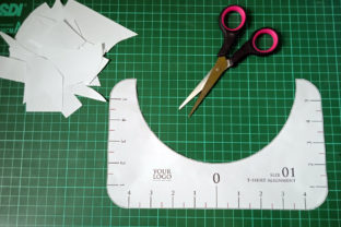 Print on Demand: T-Shirt Alignment Tool - 4 Size Variation Graphic Crafts By Home Crafter Design.co 6