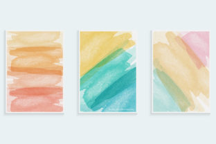 Watercolor Brush Style Cover Design Graphic Backgrounds By medelwardi