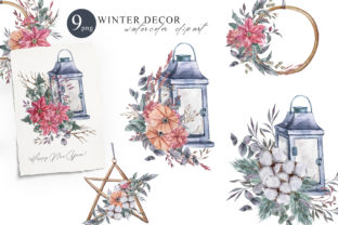 Print on Demand: Watercolor Christmas Decor Clipart Set. Graphic Illustrations By Tiana Geo