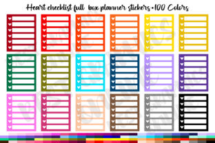 100 Hearts Checklist Full Box Planner Graphic Print Templates By bestgraphicsonline