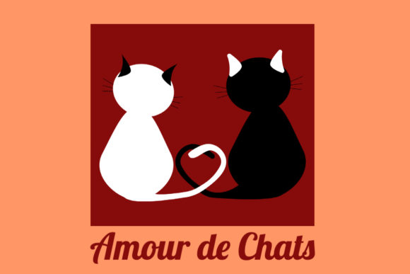 Print on Demand: Amour De Chats Graphic Crafts By grafikestelle