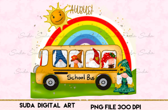 Print on Demand: August Calendar Design Sublimation Graphic Illustrations By Suda Digital Art