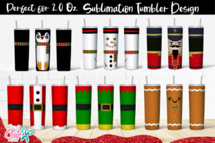 Christmas Skinny Tumbler Sublimation Graphic Print Templates By Cute files
