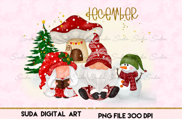 Print on Demand: December Calendar Design Sublimation Graphic Illustrations By Suda Digital Art