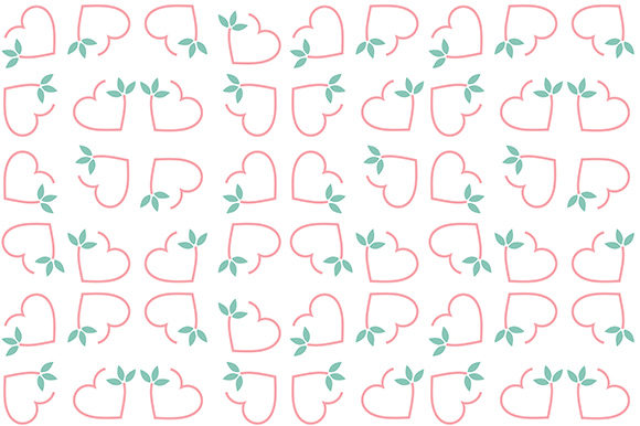 Decorative Heart and Floral Background Graphic Backgrounds By shawlin