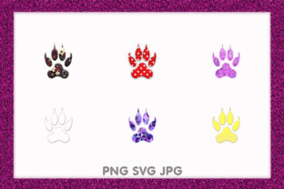 Print on Demand: Dog Cat Wolf Pet Animal Paw Footprint Graphic Illustrations By Chiplanay
