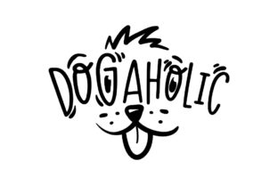 Dogaholic 1 Graphic Crafts By Creative Divine