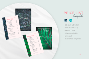 Print on Demand: Editable Price List Templates Graphic Print Templates By milagro.mst