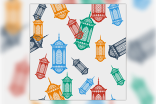 Flat Arab Ramadan Lamp Seamless Pattern Graphic Patterns By faqeeh