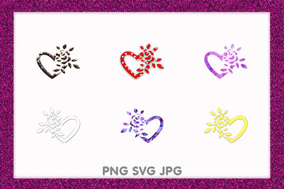 Print on Demand: Hearts Love Valentines Day Logo Icons Graphic Illustrations By Chiplanay