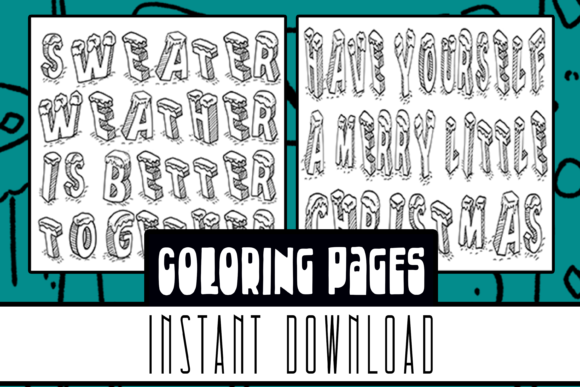 I Spy Christmas Coloring Book 10 Pages Graphic By Rabbit Art Creative Fabrica