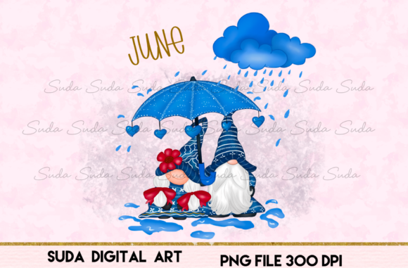 Print on Demand: June Calendar Design Sublimation Graphic Illustrations By Suda Digital Art