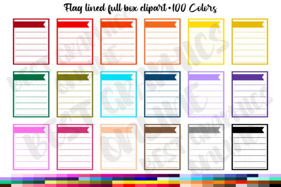 Lined Flag Full Box Printable Planner St Graphic Print Templates By bestgraphicsonline