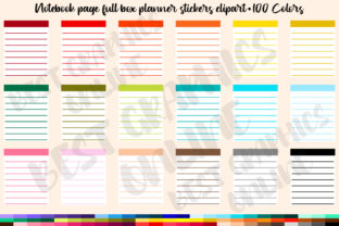 Lined Full Box Planner Clipart Notebook Graphic Print Templates By bestgraphicsonline