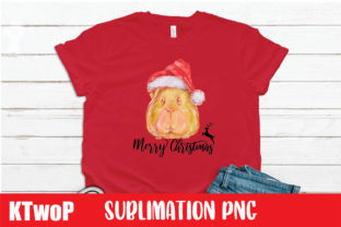 Print on Demand: Merry Christmas Guinea Pig Sublimation Graphic Illustrations By KtwoP