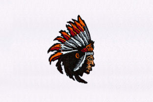Native Indian Chief Africa Embroidery Design By DigitEMB
