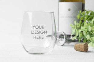 Stemless Wine Glass Mockup Graphic Product Mockups By thesundaychic