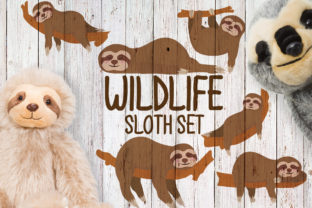 Wildlife, Sloth Set Graphic Plotterdateien By Firefly Designs