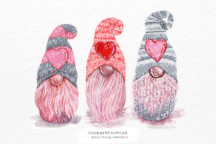 Print on Demand: 3 in Love Gnomes Sublimation Designs Graphic Crafts By Chonnieartwork