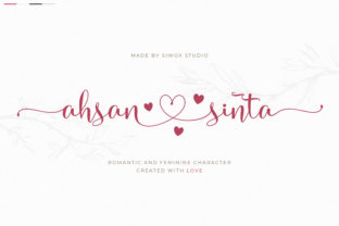 Print on Demand: Ahsan Sinta Script & Handwritten Font By SiwoxS