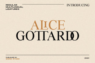 Print on Demand: Alice Gottardo Serif Font By SiwoxS