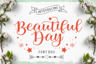 Print on Demand: Beautiful Day Script & Handwritten Font By LetterFreshStudio